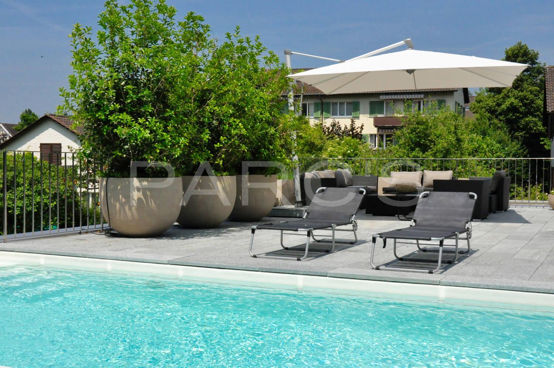garten mit nat rlichem swimming pool gartengestaltung. Black Bedroom Furniture Sets. Home Design Ideas
