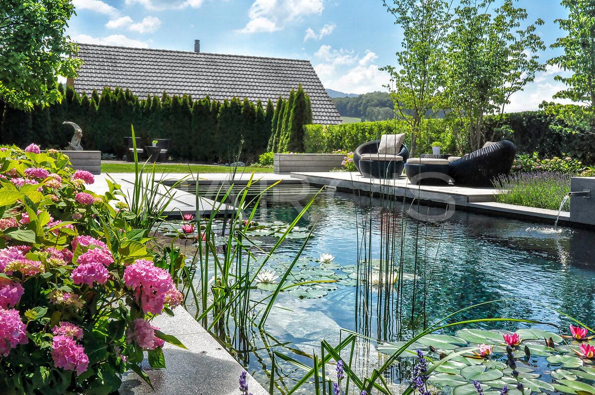 Referenz garten mit schwimmteich parc 39 s for Naturteich zum schwimmen