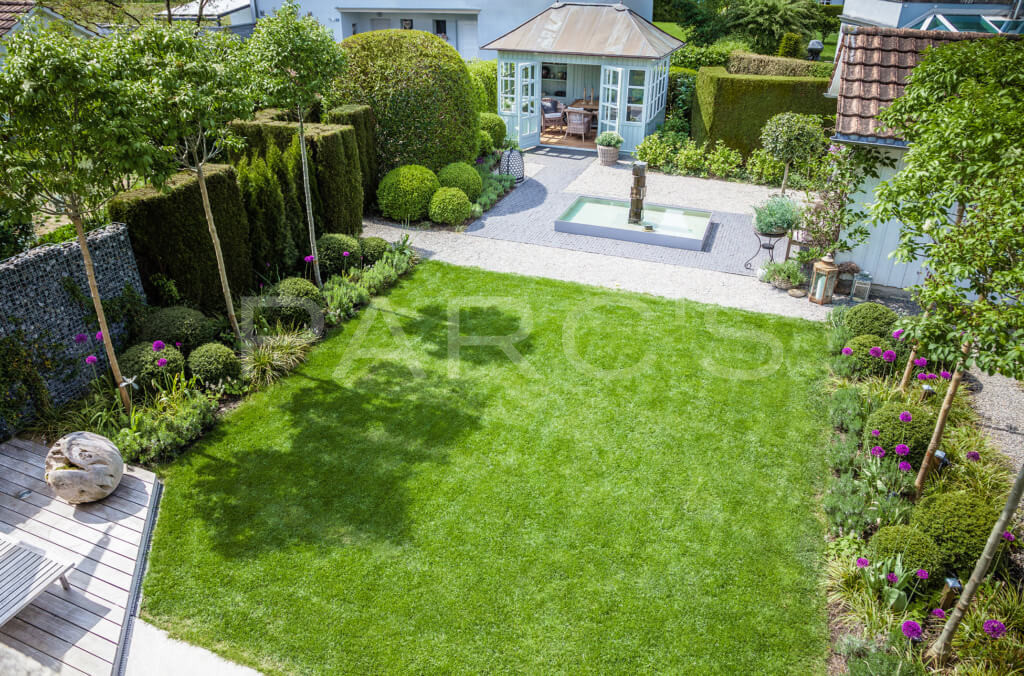belgisch-eglischer Gartenstil Gartengestaltung Totalansicht