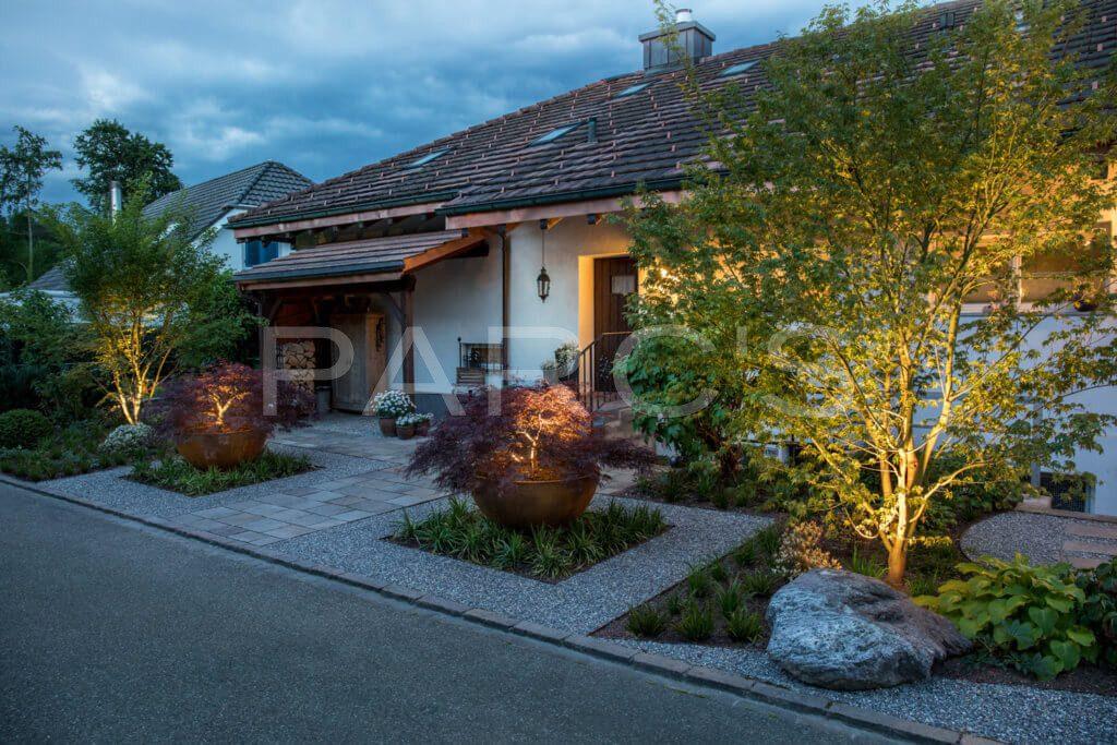Gartenbeleuchtung-Vorgarten-Wegbeleuchtung-Beleuchtung-Pflanzgefässe