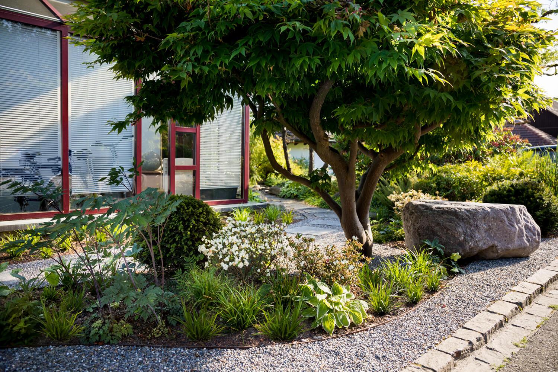 Asiatisch angehauchter Vorgarten - PARC\'S Gartengestaltung