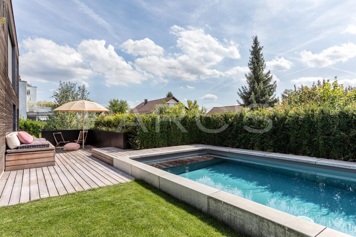 Einfamilienhaus Mit Pool Parc S Gartengestaltung